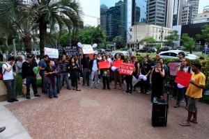 VIVIANE ALVES: ATO PELO FIM DO SILÊNCIO REALIZADO EM SÃO PAULO