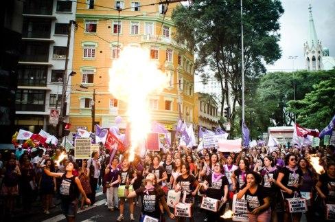 8 de março em São Paulo. Foto: FdE