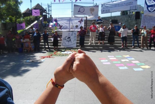 Atividade das 24 horas de solidariedade internacional, 10 de dezembro de 2013. MMM Guatemala.