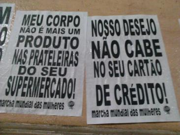 Ação direta da Fuzarca Feminista em São Paulo.