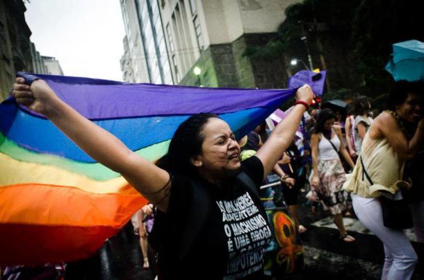Ato do 8 de março de 2013 em São Paulo. Foto: FdE)