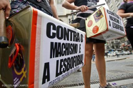 Ato do Dia Internacional de Luta das Mulheres, São Paulo, 2013. Foto: Elaine Campos.