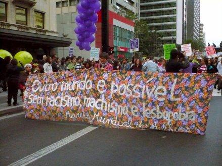 MMM na Caminhada de Lésbicas e Bissexuais de São Paulo. Foto: Elaine Campos.