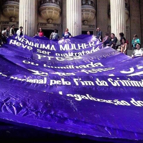 Ato contra o Estatuto do Nascituro Estadual, o PL 416/2011, junto a Frente contra Criminalização das Mulheres pela Legalização do Aborto.  26/09/13, RJ.
