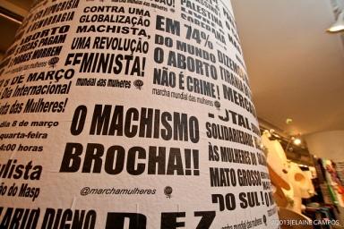 Exposição da MMM na Galeria Olido. Foto: Elaine Campos.