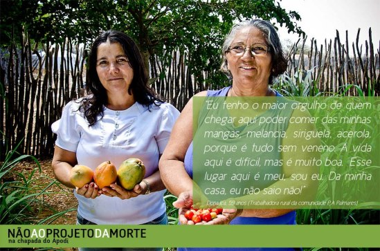 Mulheres resistem na Chapada do Apodi, no Rio Grande do Norte. #somostodasapodi