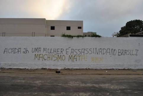 Ação da MMM de Vitória da Conquista (BA), Núcleo Maria Rogaciana. #FimdaViolênciaContraMulher