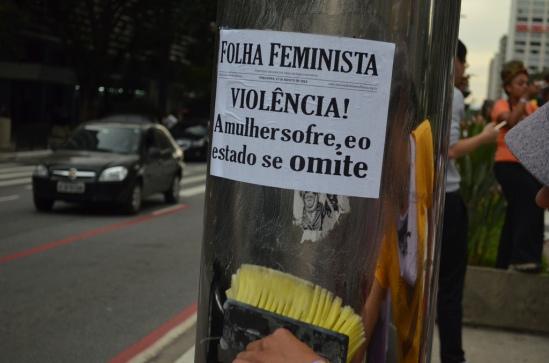 Manifestação da MMM em São Paulo, 2013. Foto: Cintia Barenho.