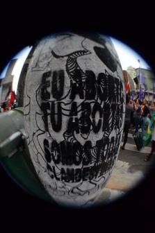 Intervenção urbana da MMM em São Paulo. Foto: Cintia Barenho.