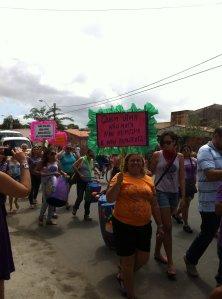 Manifestação da MMM contra a violência no Ceará