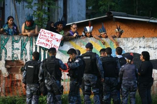 Invasão da Aldeia Maracanã, no Rio. Fonte: O Dia.