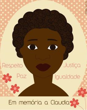 Arte da Fabielly Lanusa para o 100 vezes Cláudia, projeto do OLGA(http://thinkolga.com/2014/03/19/100-vezes-claudia/).