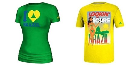 """Camiseta da Adidas """"pra gringo ver"""". Fonte: Blog do Comitê Popular da Copa."""