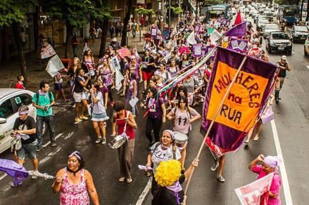 Bloco As Desobedientes do Ritmo em Belo Horizonte (MG).