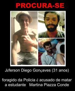 Jefferson Diego Gonçalvez - foragido. Ajudem a divulgar.