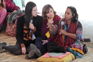 Salima, da MMM-Bangladesh, participa da Tenda da Solidariedade no Encontro Internacional da MMM, em São Paulo, 2013.