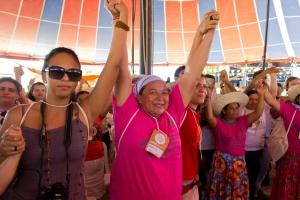 Plenária de Mulheres no ENA. Foto: Fabio Caffe