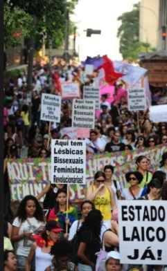 XII Caminhada de Lésbicas e Bissecuais de São Paulo Fonte: Uol