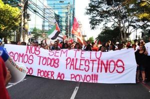 Fotos do Ato em Solidariedade ao Povo Palestino em SP, por Helena Zelic