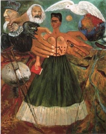 """Pintura """"El marxismo dará salud a los enfermos"""", Frida Kahlo."""