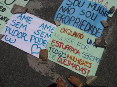 Ato por Justiça para as Mulheres de Queimadas. Foto: Bruna Dias.