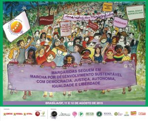 Cartaz da Marcha das Margaridas 2015