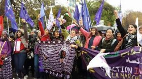 MMM na manifestação do FSM, na Tunísia.