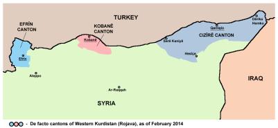 Mapa Rojava